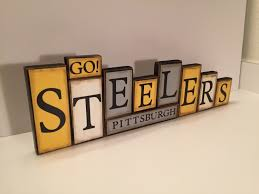 Family Wood Sign Home Decor Steelers Sign Word Blocks Pittsburgh Wooden By Guidingprintables