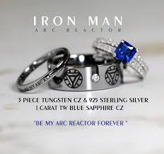 the marvels wedding band iron tungsten and 925 sterling silver 1 by cloud9tungsten
