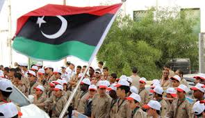 Lybian Flag Libyan Scouts Take Centre Stage As International Mine Action Day