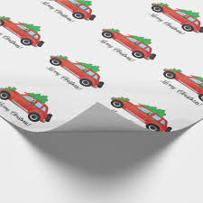 car wrapping paper yorkie terrier dog driving a christmas car wrapping paper zazzle