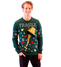 ugly christmas sweaters that light up and sing a christmas story fragile leg l light up led lighting