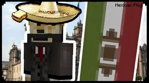 minecraft how to make a mexican flag youtube