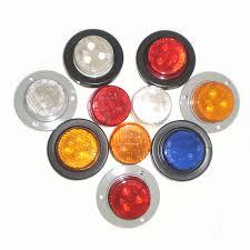 led truck marker lights 2 inch round piranha led 3 diodes truck trailer side marker