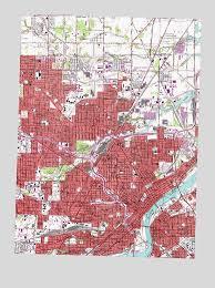 toledo ohio map toledo oh topographic map topoquest