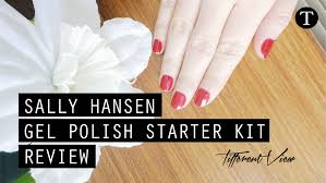 sally hansen gel polish starter kit review tifferent view
