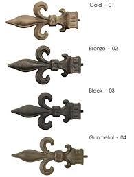 Fleur De Lis Curtains Artistica Outdoor Iron Fleur De Lis Curtain Rod In 4 Finishes