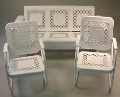 White Metal Patio Chairs Metal Outdoor Furniture Bemine Co