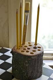 pen holder wood desk organizer wooden pencil by myflowermeadow