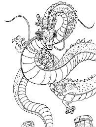 dragon ball z dragon coloring pages online free