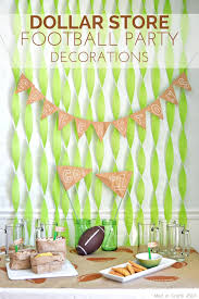football party decorations dollar store football party decorations crafts football and