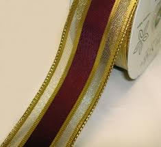burgundy wired ribbon burgundy velvet ribbon wired 2 12 inch wide gold edges 4 in wired
