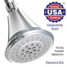 high pressure 5 setting 4 inch led shower head hydro powered no