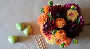 Vase Pour Composition Florale Décoration Florale Un Vase D U0027automne Dans Une Citrouille Prima
