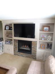 Built In Shelves Living Room Remodelaholic Fireplace Makeover With Built In Shelves