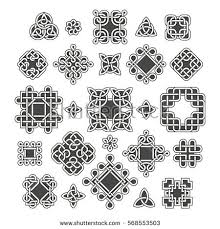 chinese celtic endless knots patterns vector stock vector