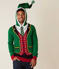 ugly christmas sweater elf suit hooded sweater men u0027s sweaters in