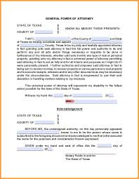 Power Of Attorney For Financial 8 tx power of attorney form week notice letter