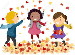 children playing in leaves clipart clipartxtras