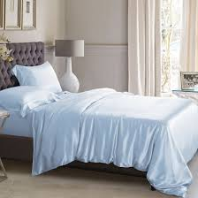 blue silk bed linen from the finest mulberry silk