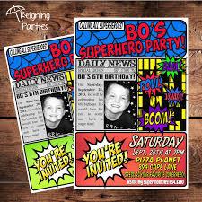 Spiderman Invitation Cards Super Hero Birthday Party Invitation Save The Date Digital