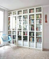 Ikea Billy Bookcase With Doors Billy Bookcase Office Makeover Reveal Hack Built In Billy