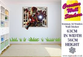 man marvel avengers wall art sticker decal kids