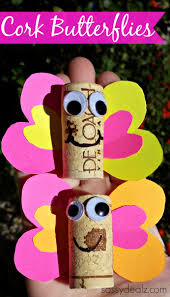 wine cork butterfly craft for kids crafty morning