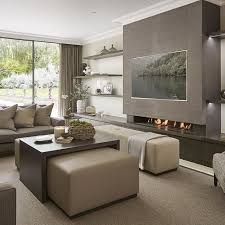 modern family rooms very contemporary and neutral family room off the kitchen at the