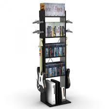 furnitures appealing image of modern black clear glass shelf