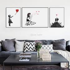 Hipster Decor 2017 Modern Black White Banksy Poster Print A4 Urban Graffiti Wall