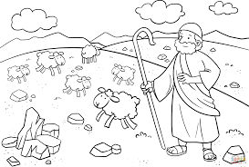 moses in midian coloring page free printable coloring pages