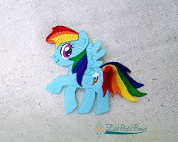 my pony ribbon ribbon sculpture inspired by rainbow dash of my pony fame