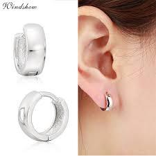 huggie hoop earrings 925 sterling sliver wide circle loops small huggie hoop earrings