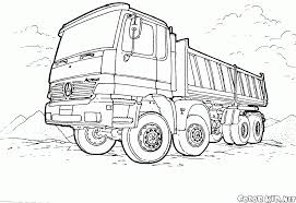 coloring page large truck