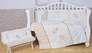 Pony Crib Bedding 100 Cotton White Baby Bedding Set Embroidery Lovely Pony Crib