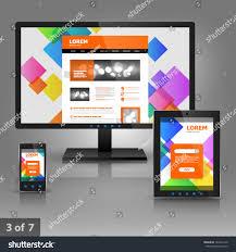 Design Gadgets Application Template Design Gadgets Color Square Stock Vector