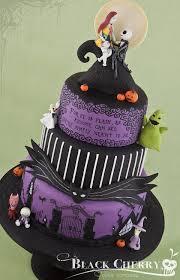 nightmare before wedding theme and sally cake