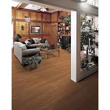 Who Makes Allen Roth Laminate Flooring Shop Allen Roth 4 96 In W X 4 23 Ft L Russet Oak Embossed