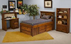 Bed And Desk Combo Furniture Student Desk And Hutch Combo By Trendwood Wolf And Gardiner Wolf