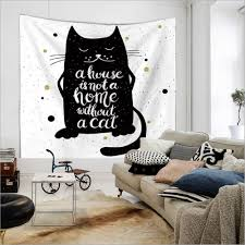 aliexpress com buy home decor polyester fabric black cat
