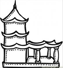 temple coloring page buddhist temple with terrace coloring page free religions