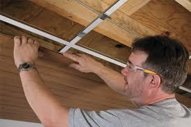 Outdoor Wood Ceiling Planks by Photo Of Ceiling Tile Installation Ceiling Installation