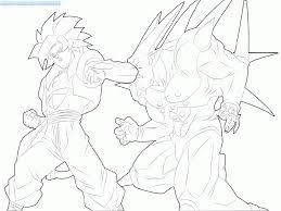 dragon ball gt goku super saiyan 4 coloring pages coloring home