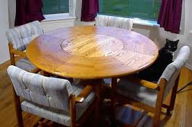 round table with lazy susan built in lazy susan integrated into round table home ideas pinterest