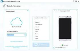 icloud to android wondershare mobiletrans user guide icloud backup to android