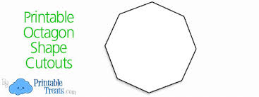 printable octagon shape cutouts u2014 printable treats com