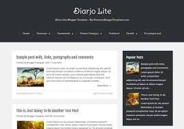 diarjo lite simple blogger template u2022 blogspot templates 2018