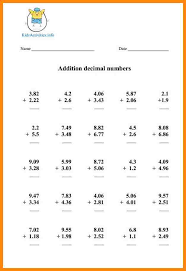 adding decimal numbers worksheet 11 decimal worksheets 5th grade math cover