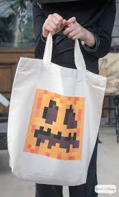 Minecraft Halloween Costumes Diy Pumpkin Treat Bag U0026 Minecraft Halloween Costume Ideas Atta