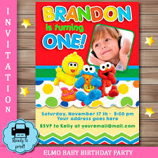 sesame street party photo invitation invitations sesame street